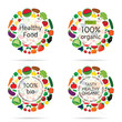 healthy food organic icon illustration