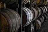 Bourbon Barrels in Rickhouse - 184504801