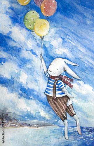 sliczny-krolika-latanie-z-kolorowymi-balonami-na-morze-krajobrazu-tle