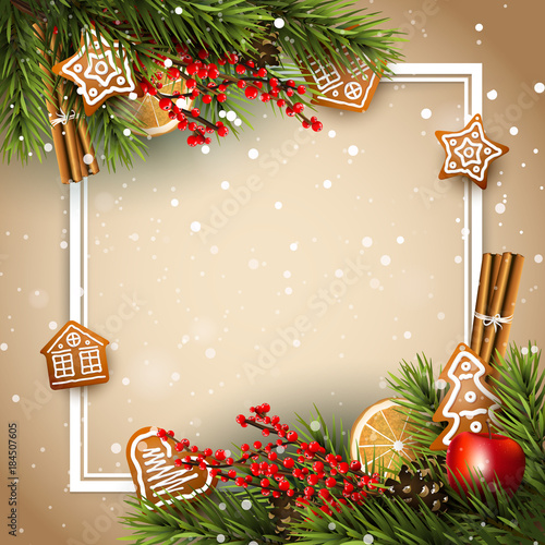 Traditional Christmas background - 184507605