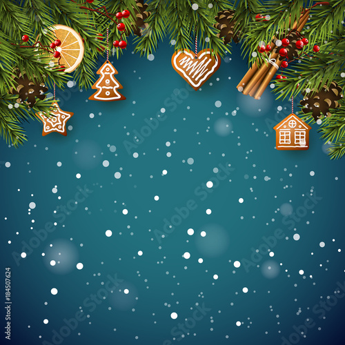 Traditional Christmas background - 184507624