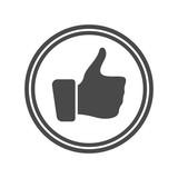 Champion award icon with thumb up - 184523432