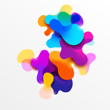 Fluid colorful bubbles. Abstract background - 184539466