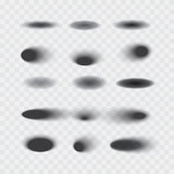 Set of vector oval shadows isolated - 184542034