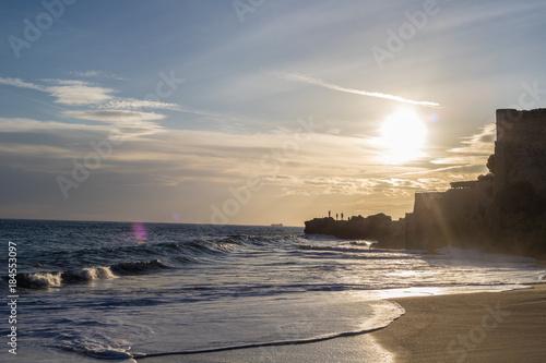 Poster Zee zonsondergang Surrealistic Dreams Beach Landscape