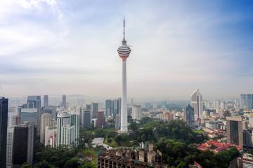 aerial view of Kuala Lumper skyline