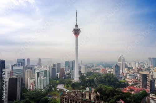 Staande foto Kuala Lumpur aerial view of Kuala Lumper skyline
