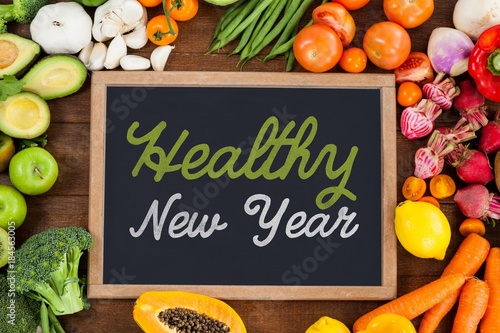 Foto Murales Composite image of healthy new year