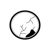 circular mirror icon image