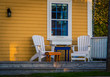 front porch and chairs