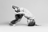 break dance kids. little break dancer showing his skills. - 184601291