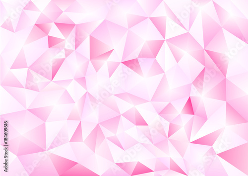 Abstract background in the polygonal style. Pattern of 3-d shapes. - 184609616