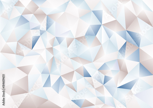 Abstract background in the polygonal style. Pattern of 3-d shapes. - 184609651