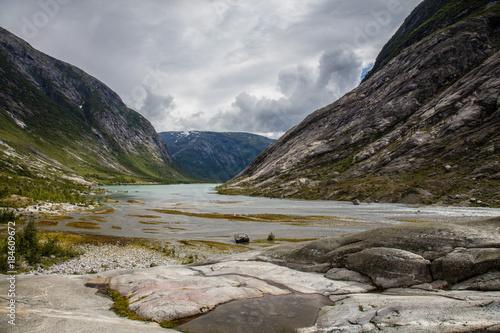 Foto op Canvas Donkergrijs noruega