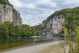 the rocky shores of the Danube, Germany - 184624201