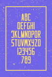 grunge style alphabet letters and numbers. vector, retro font type design. vintage lettering. trendy, high typesetting. bold typeface template - 184630481