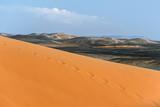 golden sand dune in sahara desert - 184632869