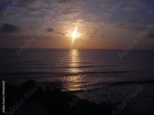 Poster Zee zonsondergang tramonto
