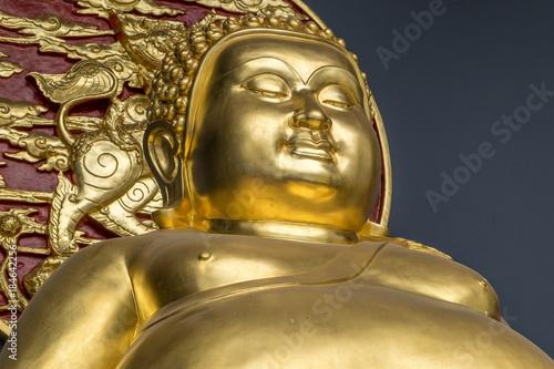 Foto op Canvas Bangkok Golden Buddha statue at temple in Bangkok Thailand