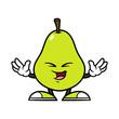 Cartoon Happy Pear Character - 184645045