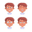 Set of boy emotion. Vector illustration, eps 10.