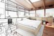 Schlafzimmer im Patio (Skizze)