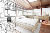 Schlafzimmer im Patio (Skizze) - 184656601