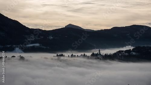 Deurstickers Beige Fog