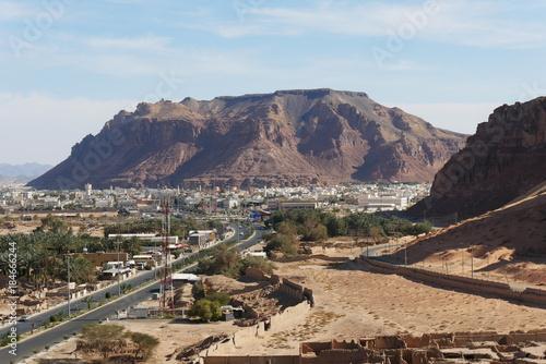 Keuken foto achterwand Blauwe hemel Al Ula Old Town West Saudi Arabia