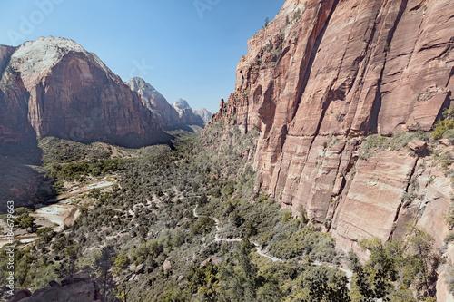 In de dag Zalm Angels Landin, Zion National Park, Wandern