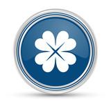 Blauer Button - Kleeblatt - 184694258