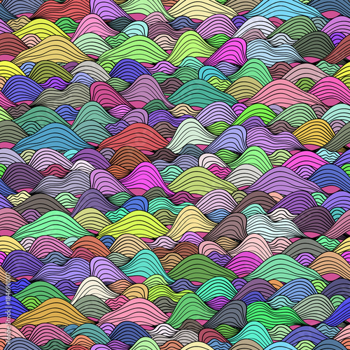 Seamless pattern with multicolor wavy texture