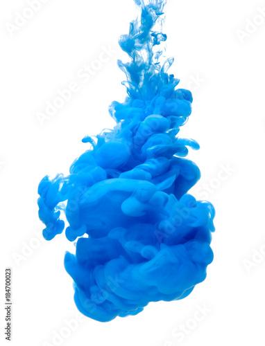 niebieski kolor farby atramentu powitalny pigmentu