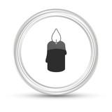 Weißer Button - Kerze - 184700440