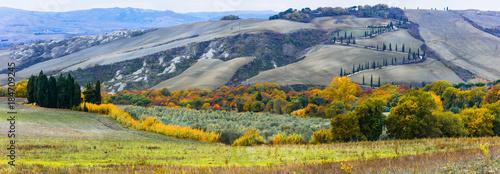 Plexiglas Toscane Traditional rural scenery of beautiful Tuscany. Italy