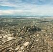 Aerial view of Calgary downtown in winter