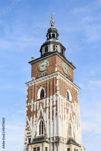Fotobehang Krakau KRAKOW, POLAND - FEBRUARY 27, 2017: Former city hall