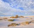 White Sand Beach and Beautiful Cloudy Sky