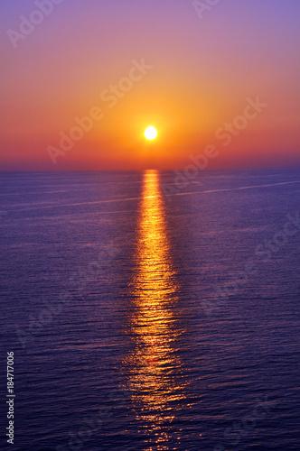 Poster Zee zonsondergang Sunset