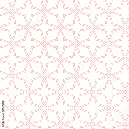 Seamless pink ornament in arabian style. Geometric abstract background. Pattern for wallpapers and backgrounds - 184721828
