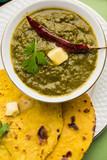 Sarson Ka Saag Makki Ki Roti popular north indian main course menu usually prepared in winter season   © espies