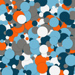 Geometric pattern with circles. Abstract vector background - 184744866
