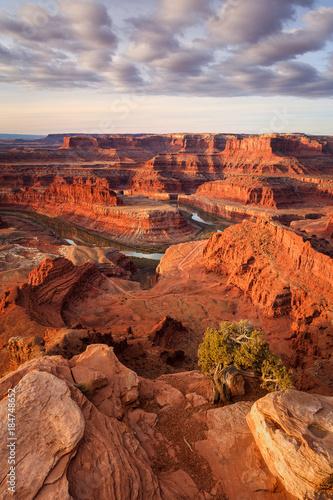Fotobehang Baksteen Utah desert sunrise, Moab, Utah, USA.