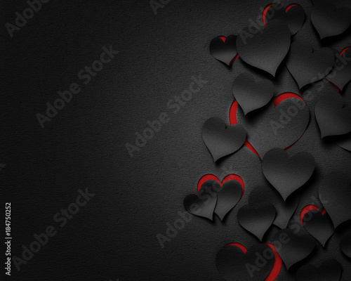 paper hearts , happy valentine's day - 3D romantic card / background ( love , wedding )