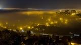 fog floating through the city timelapse - 184752463