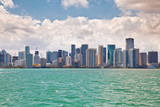Beautiful Miami Florida skyline across Biscayne Bay - 184755205