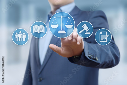 Naklejka Labor Law Lawyer Legal Business Internet Technology Concept