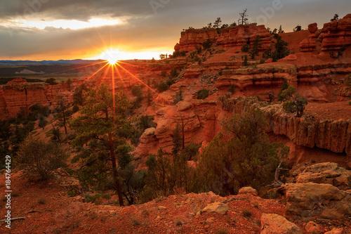 Aluminium Rood paars Amazing desert southwest landscape.