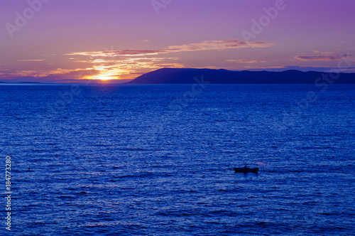 Plexiglas Zee zonsondergang Sunset at Adriatic Sea, Croatia