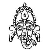 Vector illustration of Ganesha. Hindu god elephant Ganesha. Lineart. - 184781869